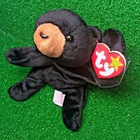 """Ty Beanie Baby Blackie The Bear 1994 RETIRED & ALL ERRORS """"SUFACE"""" / """"ORIGIINAL"""""""