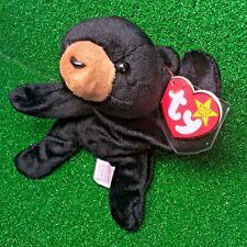 "TY Beanie Baby Blackie The Bear 1994 RETIRED w/ ALL ERRORS ""SUFACE"" ""ORIGIINAL"""