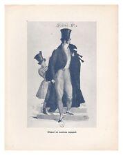 typogravure COSTUME DE FRANCE FOLKLORE XIX eme ELEGANT MANTEAU ESPAGNOL