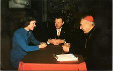1978 Postcard First Lady Rosalynn Carter, Brzezinski & Cardinal Wyszynski unused