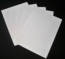 A4 White Embossed Dot Card 250gsm
