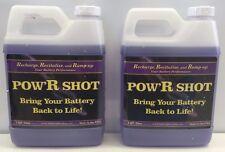 Battery PowR Shot, 2- 1 Qt Bottle of Desulfation/Equalizer Battery Fluid