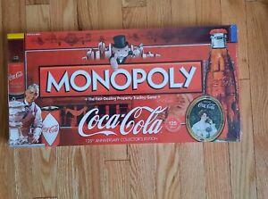 Monopoly Coca Cola 125th Anniversary Collector Edition Board Game New Sealed NIB