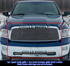 For 2009-2012 Dodge Ram 1500 Pickup Billet Grille Grill Combo insert 2010 2011