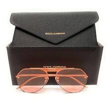 Dolce & Gabbana DG 2213 1330/5 Matte Rose Gold Men Authentic Sunglasses 57-17