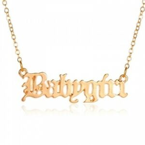 AU Seller Gold Plated Babygirl Word Pendant Chain Style Necklace Fashion Gift