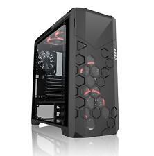 Big-Tower ATX, AZZA STORM 6000B RGB, Gaming-PC-Gehäuse mit Lüftern/Fenster, RGB