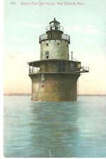 vintage postcard Butlers Flat Lighthouse New Bedford Ma undivided back