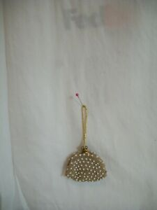 VINTAGE HAND MADE LITTLE DOLL PURSE CROCHET AND BEADS