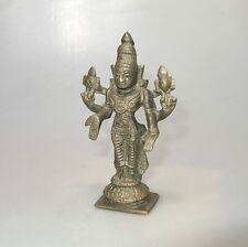 Edad del tíbet buda guanyin diosa 4 brazos con cruz estatua de bronce aprox. 12,5 x 7 cm