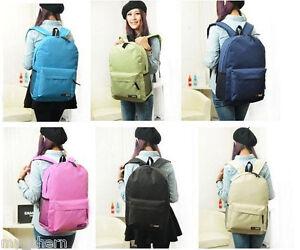 BP-0243 Plain Color Canvas Backpack/ School Bag