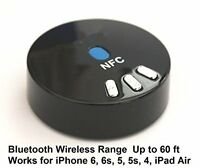 Wireless Bluetooth  Music Receiver with NFC For Speaker w 3.5mm Aux Input