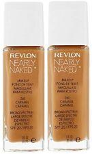 2 x Revlon Nearly Naked Foundation 260 Caramel (2x30ml) Sealed