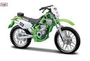 Green Kawasaki KLX 250SR 1:18 Kids Diecast Dirt Bike Motocross Motorcycles Toy