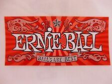 ERNIE BALL GUITAR BASS STRINGS BALLS ARE BEST CASE RACK BUMPER STICKER DECAL NEW