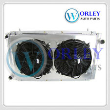 Aluminum radiator IMPREZA WRX GC8 STI 2.0 1992-2000 MT & shroud & fan for SUBARU