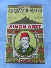 Ancienne boite vide métal 25 cigarettes SIMON ARZT CAIRO N°70 large size WW2