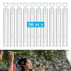 50/100Pcs Wedding Soap Bubble Empty Bottle Love Heart Soap Water Bottles Tube U