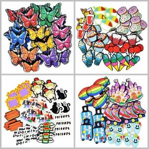 50pcs 142 Different Serials Shoe Charms Flower Balls Words Food Animal Halloween