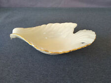 """Vintage Lenox China 8"""" Long Candy Dish/Decoration - Dove - Ivory With Gold Rim"""
