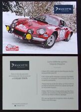 Carte postale Rallye Monté Carlo Historique 2017 Alpine A110