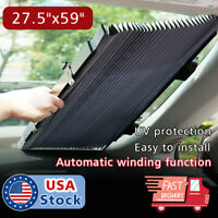 Auto Shade Car Retractable Curtain UV Protection Front Windshield Sun Visor