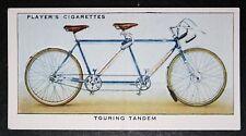 Touring Tandem Bicycle     Original 1930's Colour Card # VGC