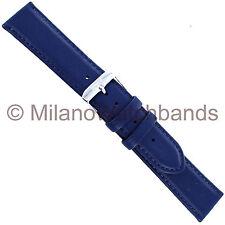 22mm Speidel Navy Blue Sport Calf Genuine Leather Mens Watch Band X-Long 600 010