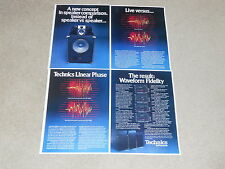 Technics SB-7000a, SB-6000a, SB-5000a Speaker Ad, 1977, 4 pages, Articles, RARE!