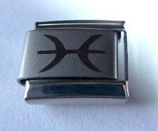PISCES Italian Charm - Zodiac Horoscope Fish Symbol fits 9mm Starter Bracelets