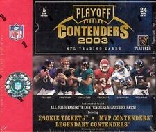 2003 PLAYOFF CONTENDERS NFL FOOTBALL HOBBY BOX