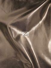 "METALLIC FOIL SPANDEX FABRIC - Brown - 2 WAY STRETCH LYCRA 58""/60"" SOLD BTY"