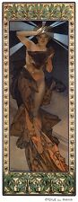 Morning Star Art Nouveau Deco Print Alphonse Mucha Poster 16x6 From Moon & Stars