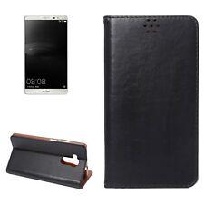 Custodia cover flip leather NERO con stand e card slot per Huawei Ascend Mate 8
