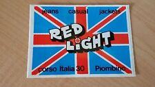 Adesivo Sticker RED LIGHT Piombino (LI)  jeans casual jackets  cm 11 x 8 circa