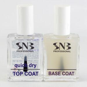 SNB Professional Nail Polish Set  - Base Coat 15ml & Quick Dry Top Coat 15ml