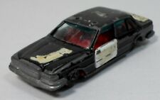POLFI TOYS VTG 80's POLICE BLACK DIE-CAST TOY CAR GREEK EXCLUSIVE BAD SHAPE RARE