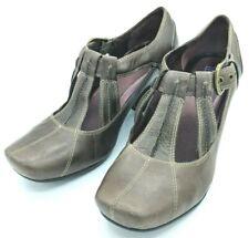Clark's Indigo Womens Heels Shoes Criss Cross Front SZ 9M Gray