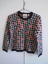 Cheap Monday BNWT Houndstooth Jacquard Knit Jumper Size XS