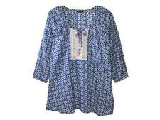 Tolle Tunika - Gr. 44 46 48 50 - blau weiß - Bluse - Longshirt - 3/4 Arm