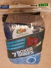 Fruit Of The Loom 7 Boys Boxer Briefs Age S 6-8