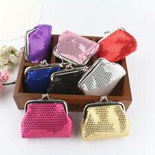 Vintage Mini Women Sequin Wallet Card Holder Coin Purse Clutch Handbag Bag Gift