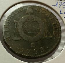 France - Convention (1792-1795) - 1 sol aux balances 1793 D (Lyon)