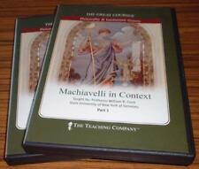 Great Courses Machiavelli In Context, Dr. Cook, 4 Dvds & Guidebook/24 Lectures