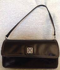 GIANI BERNINI Black Leather Shoulder Bag / Handbag