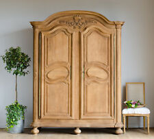 Very Large Antique 19th Century Oak French Armoire Wardrobe Linen Press