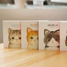 1Pcs Cute Cartoon Cat Blank Notebook Notepad Paper Journal Diary Student .US
