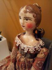 """OOAK Grodnertal Style Doll UPALLNIGHTSTUDIO by SANDRA EARLES 18"""" Regency"""