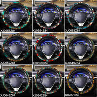 "15"" Car Steering Wheel Cover Soft Comfortable Aztec Design Fashion Auto Interior"
