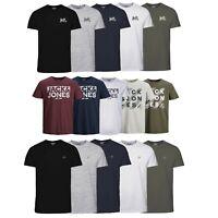 Jack & Jones Pack of 5  Mens T-shirt Logo Printed Short Sleeves Crew Neck Tee
